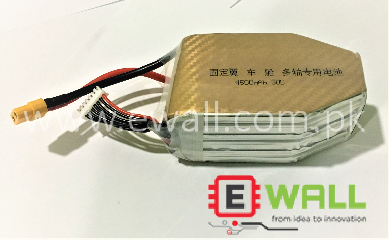 UAV battery 4500MAH 22.2V/6S XT60 Lipo