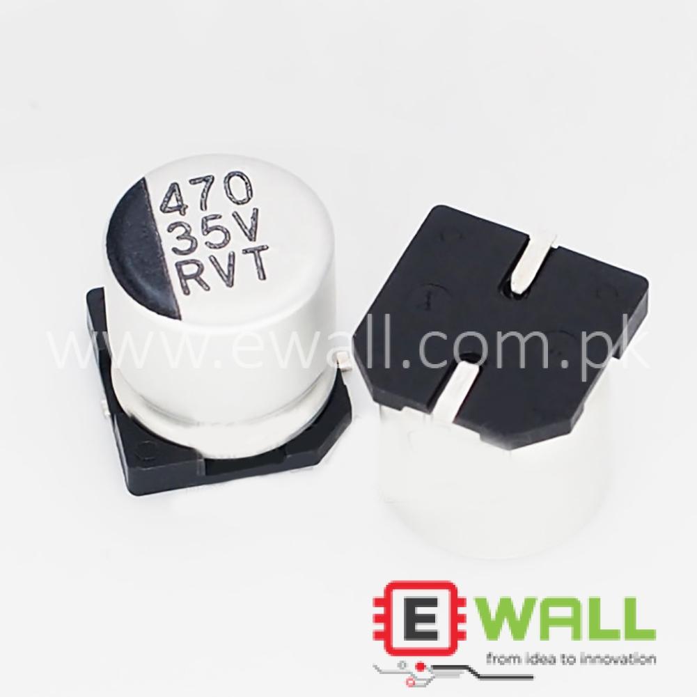 SMD 35V 470uF  Aluminum Electrolytic Capacitor 10*10.5mm