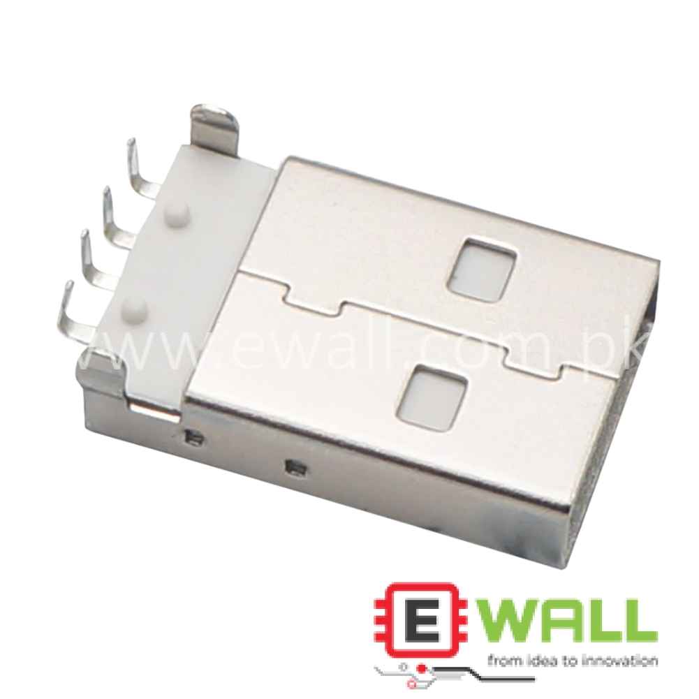 Male 90 degree A type USB socket Connector