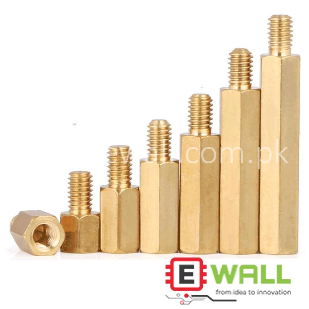 M3 Hexagonal Copper Column / Stud Single Head Isolation Column (5+6)