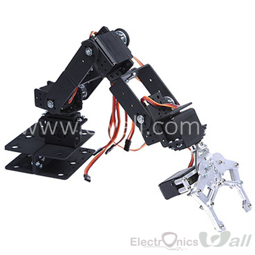 6 DOF Manipulator Aluminum Robot Arm (hand) with Claw and Base
