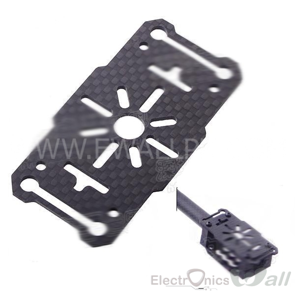Multicopter Motor Mount 2mm Thick 3K carbon fiber