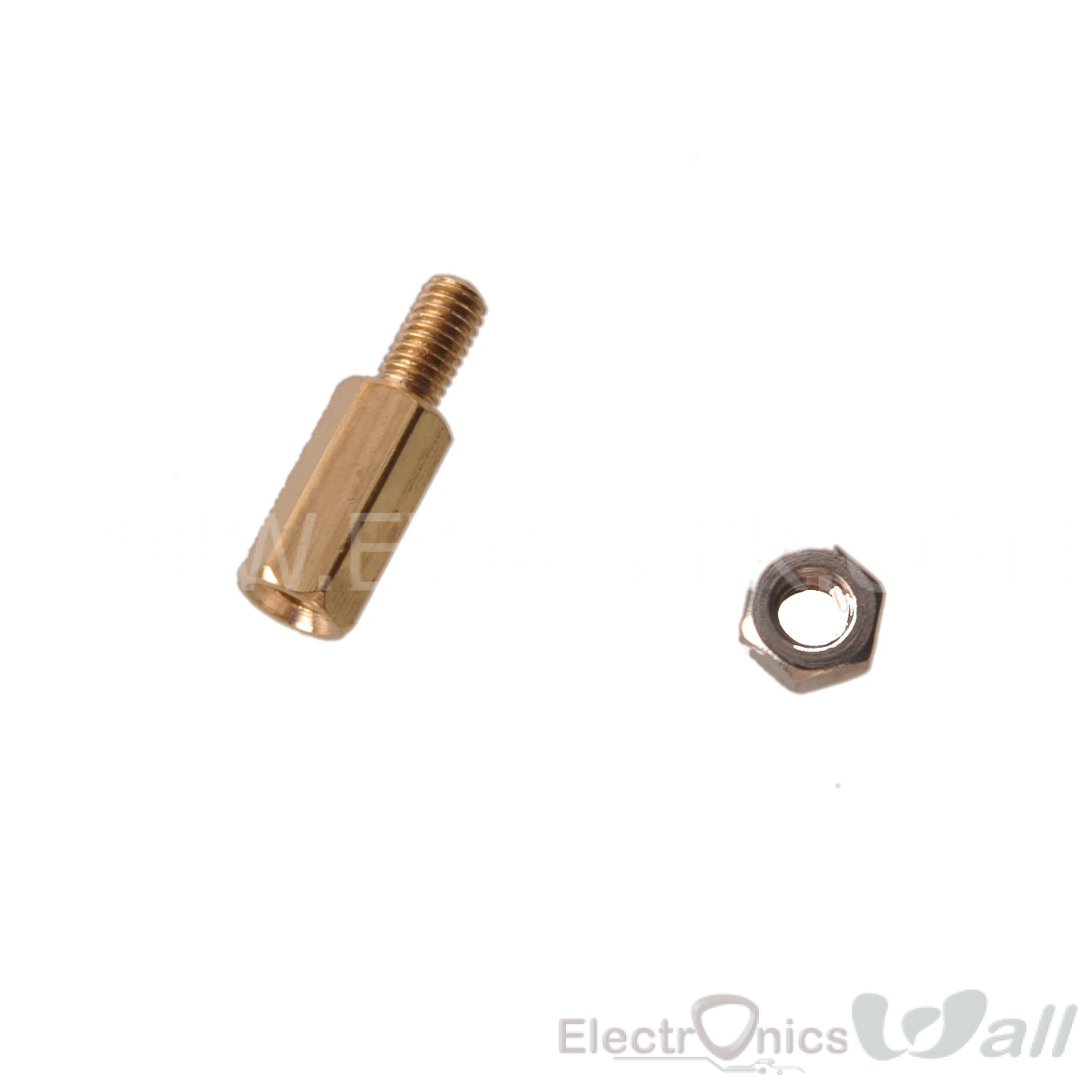 Spacer Copper Cylinder Hexagon M3X10mm Studs with 6mm Screw Nut