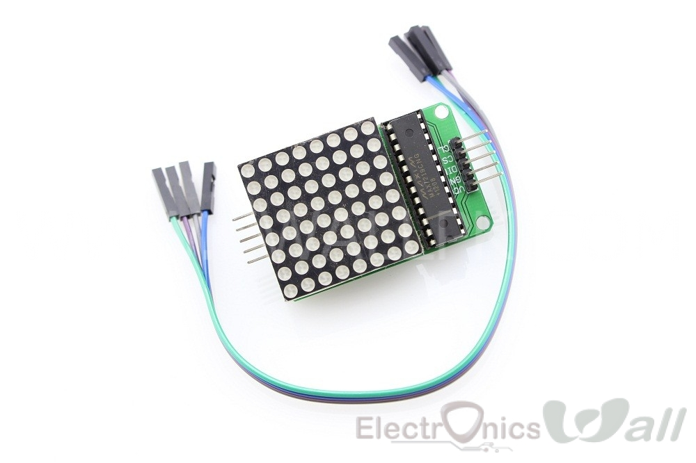 8x8 LED Dot Matrix with MAX7219 Driver