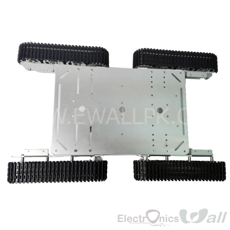 ET600 4WD Aluminum Alloy Metal Tank Robot Chassis
