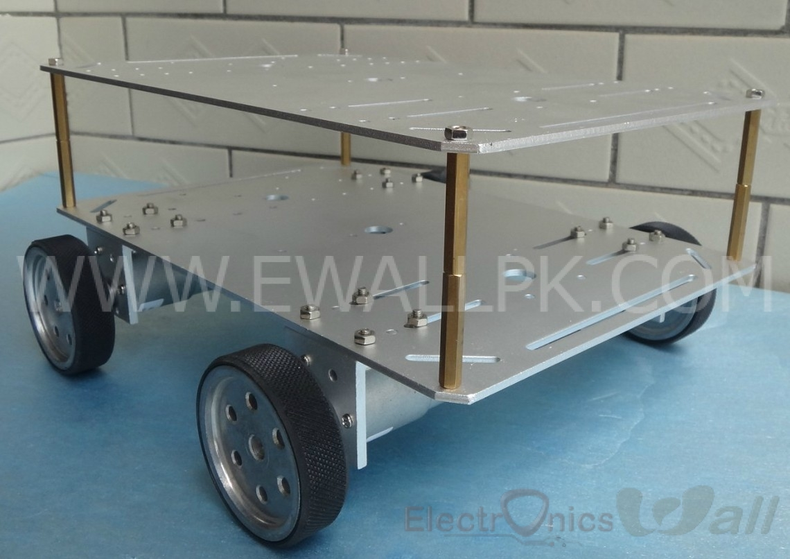 ET300 Double Aluminium Roof Robot Chassis Trolley