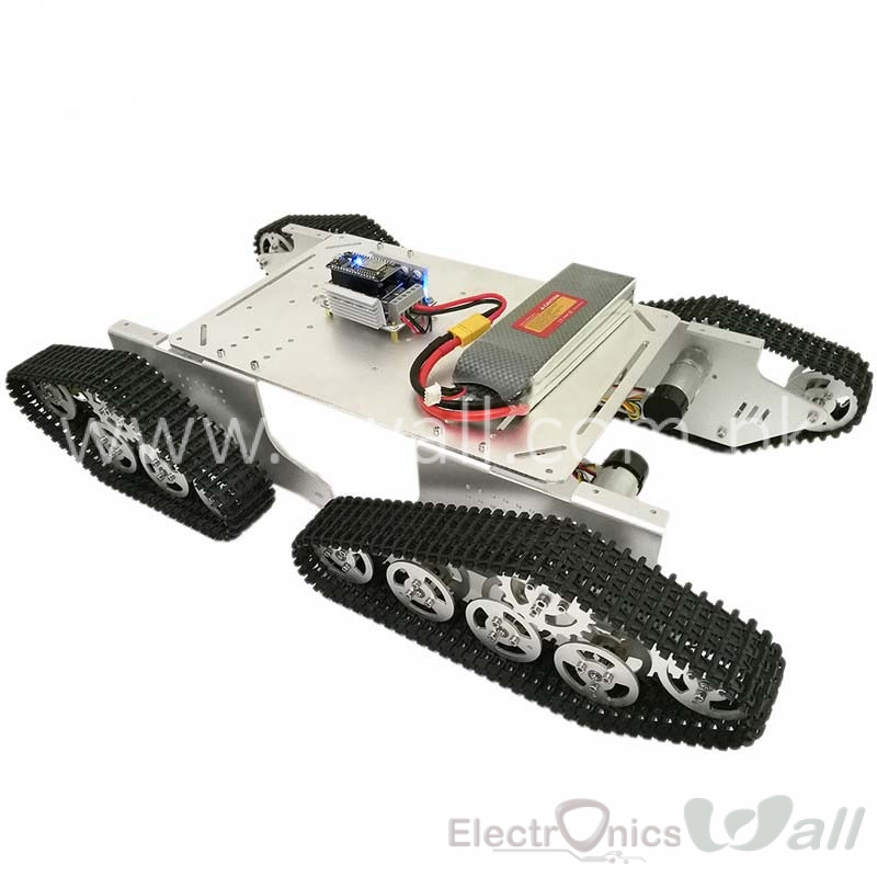 ET900 4-Drive Track-type Metal Tank Robot Chassis with Encoders
