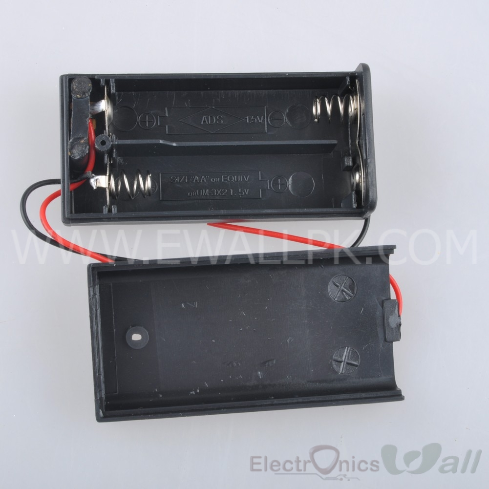 2xAA Battery Case Holder