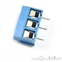 KF301-3P 5.08mm 3 pin Blue Terminal Connector