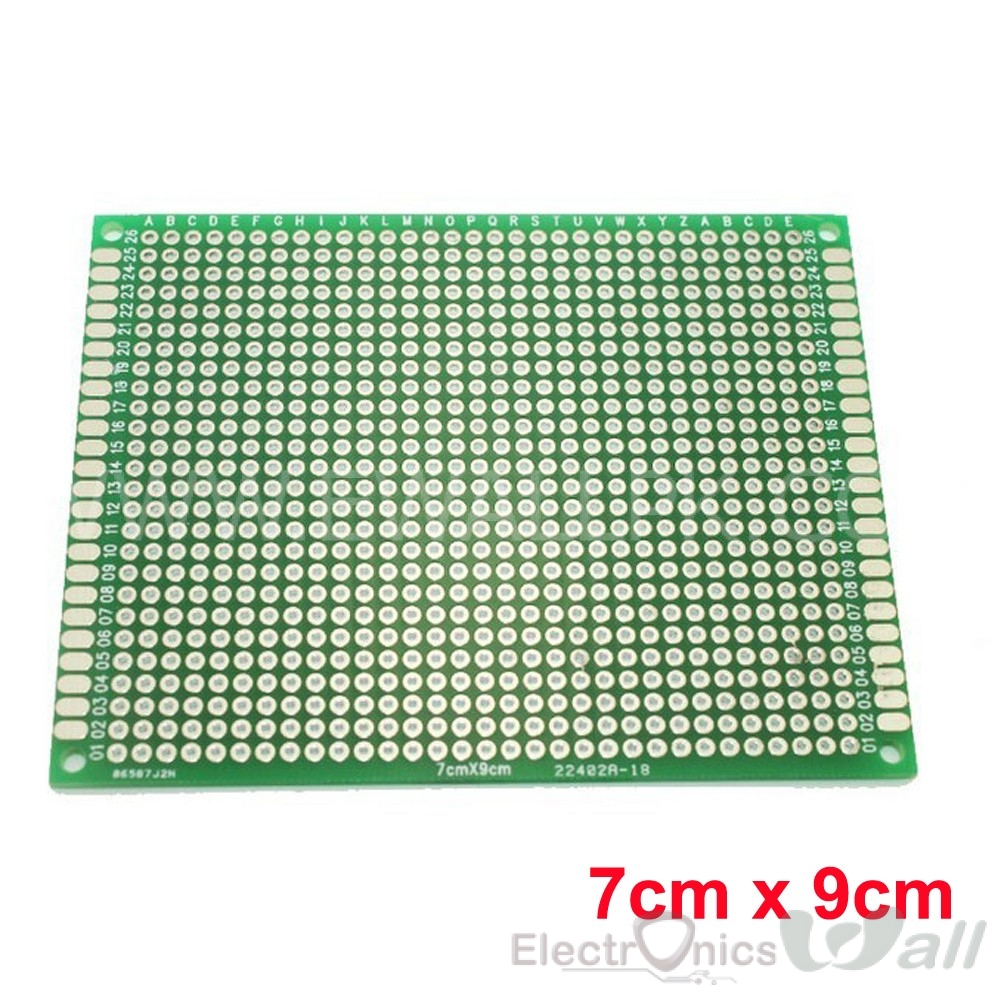 Double Sided High Quality Protoboard 7cm x 9cm