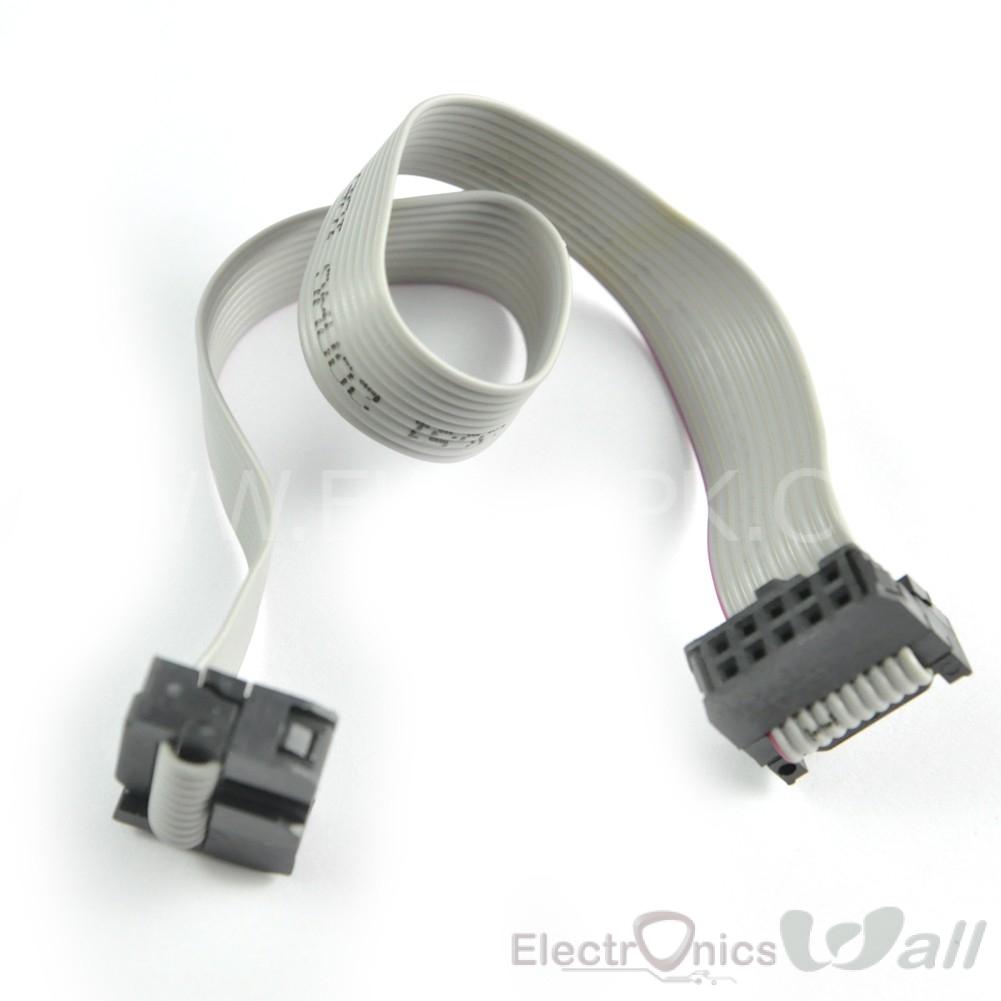20cm Long Dual IDC FC-10P Connector JTAG