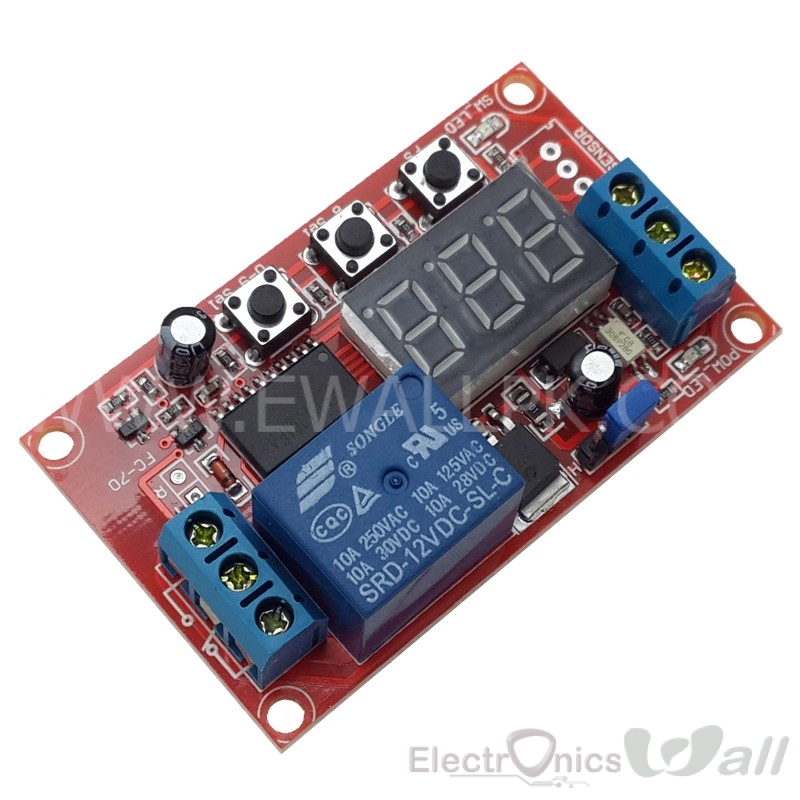5V Multi-function Delay Relay Module with Digital Display