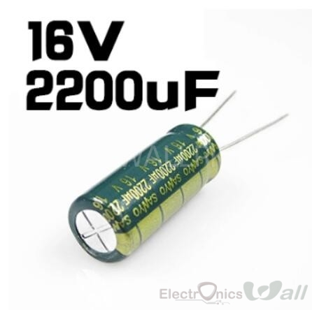 16V 2200uF Electrolytic Capacitors