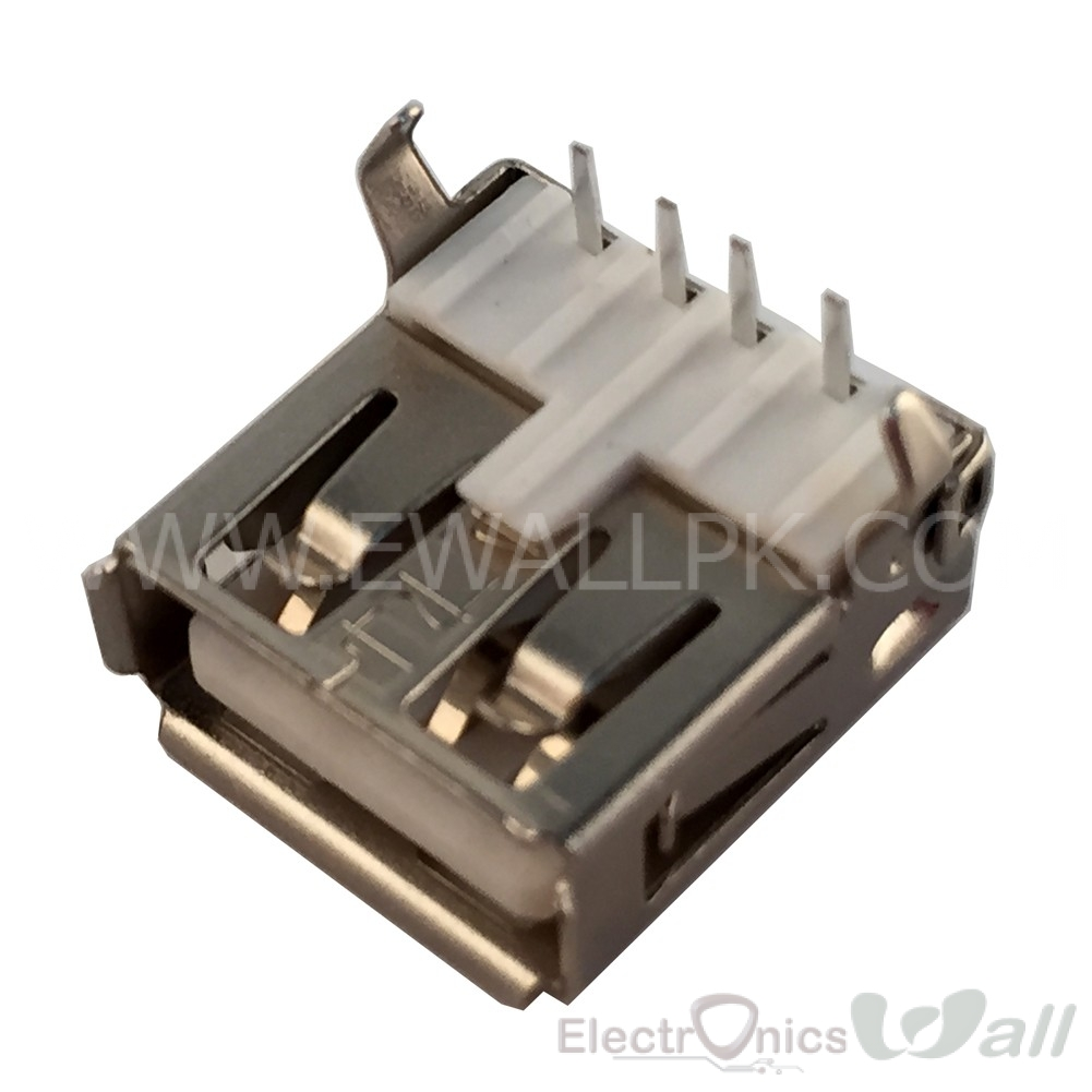 USB-A Type Connector Female 90 Degree Bend Foot