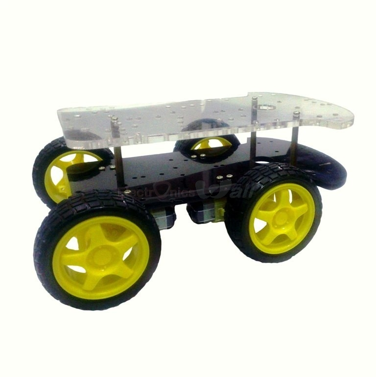 4WD 4 wheel Smart Robotic Car Chassis
