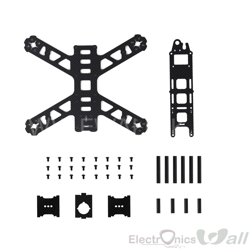 ETQ210 210mm Diagonal Wheelbase Carbon Fiber Race Quadcopter Frame
