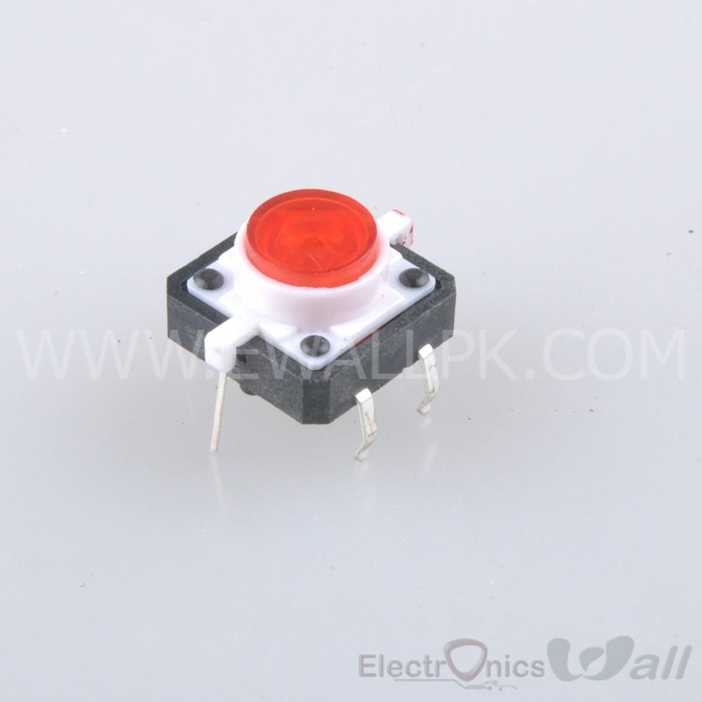 Red Tactile Push Button With LED 4pin