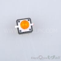 Yellow Tactile Push Button With LED 4pin
