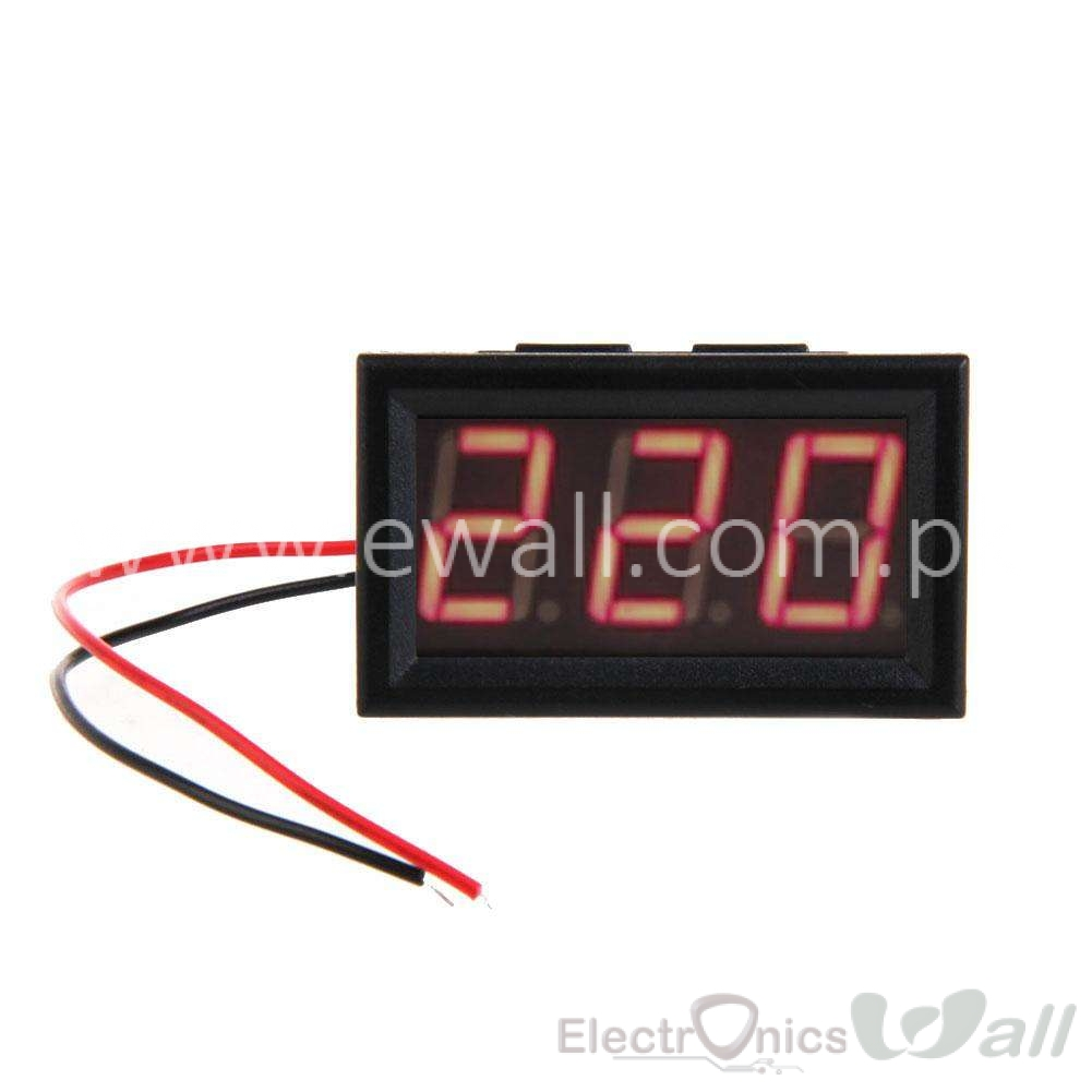 YB27A Red LED Panel Meter Mini Display Digital Voltmeter AC30-500V