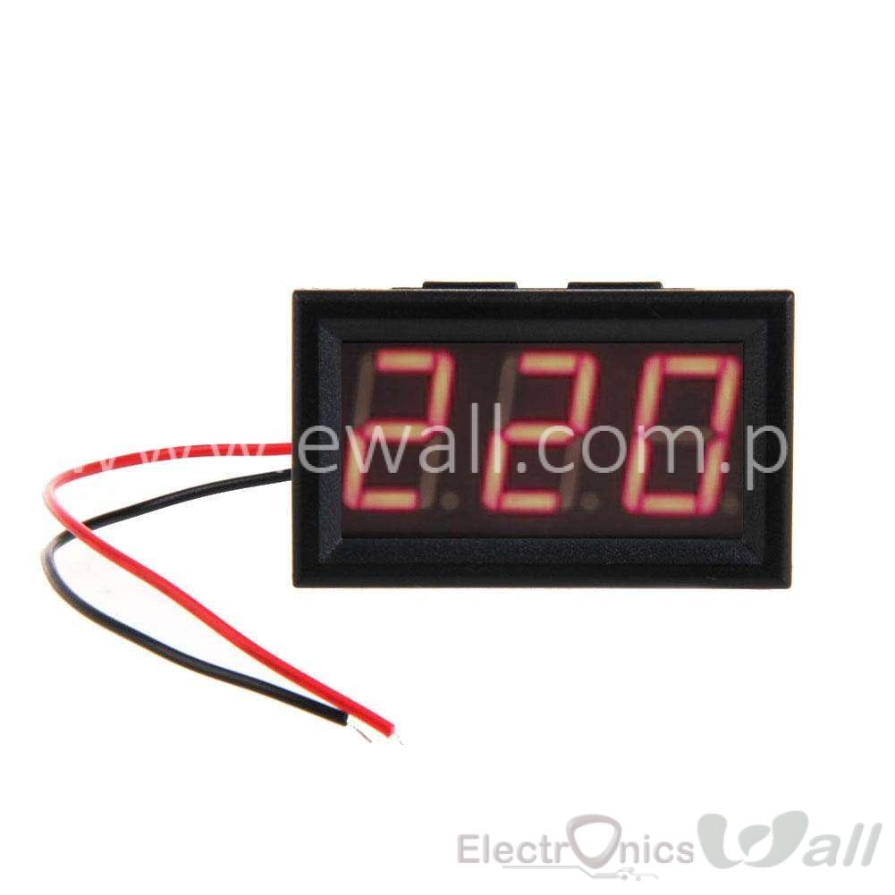 YB27A Red LED Panel Meter Mini Display Digital Voltmeter AC30-500V