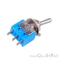 3-Pin SPDT ON-ON Mini Toggle Switch 6A@125V 3A@250V