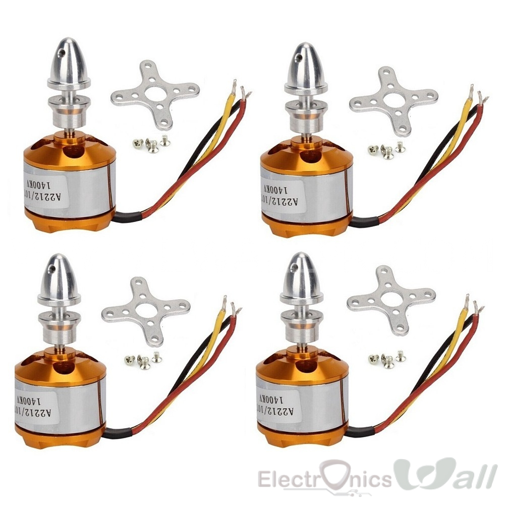 A2212 1400KV Brushless Outrunner Motor (4pcs set)