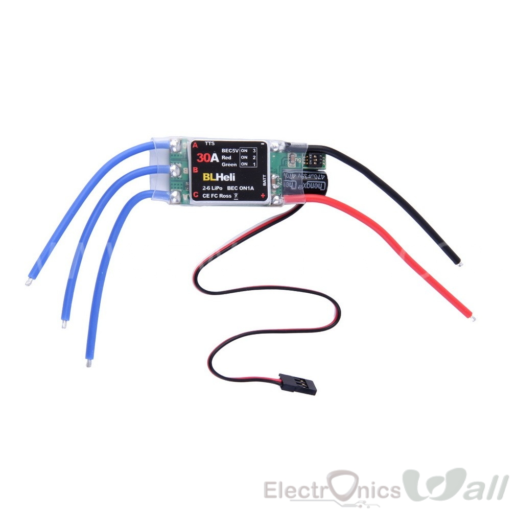 30A (2S-6S) BLHeli ESC Electric Speed Controller