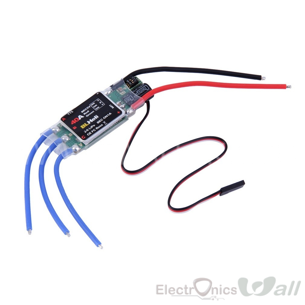 40A (2S-6S ) BLHeli ESC Electric Speed Control
