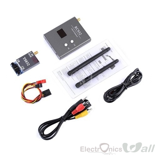 Boscam 32Ch 5.8G 600mW AV Tx TS832 and Rx RC832 for FPV