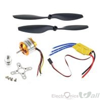 A2212 1000KV Brushless Motor w/30A Brushless ESC+10x4.5 Propeller