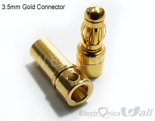 3.5mm Male and Female Bullet/Banana Gold Connectors (Pair)