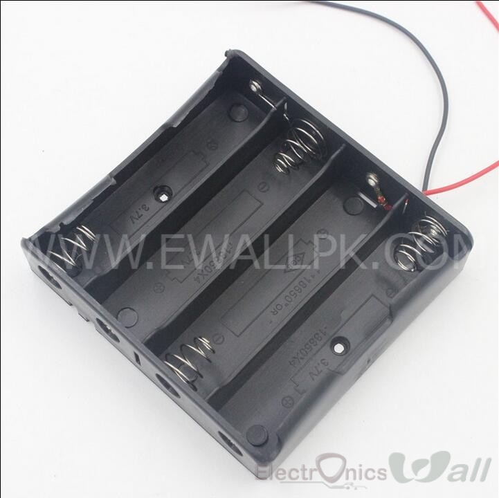 14.8V 4 Cell 18650 Lithium Battery Case